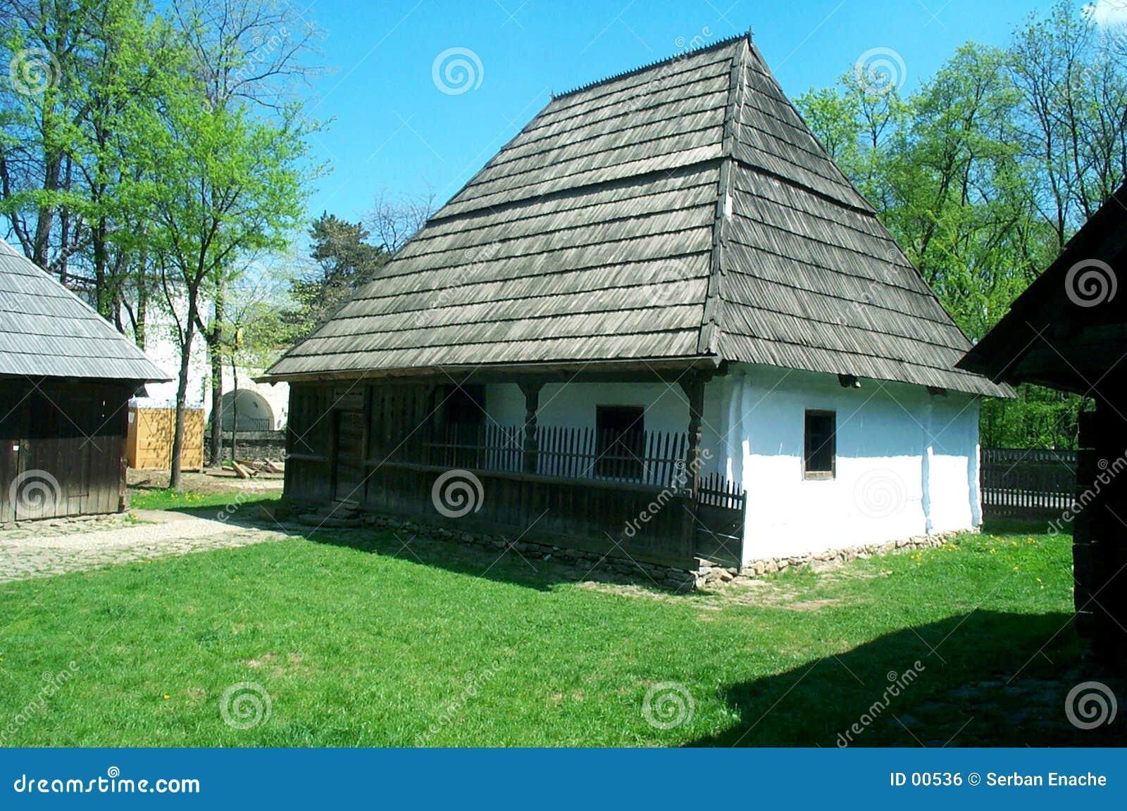 Het huis van het landbouwbedrijf