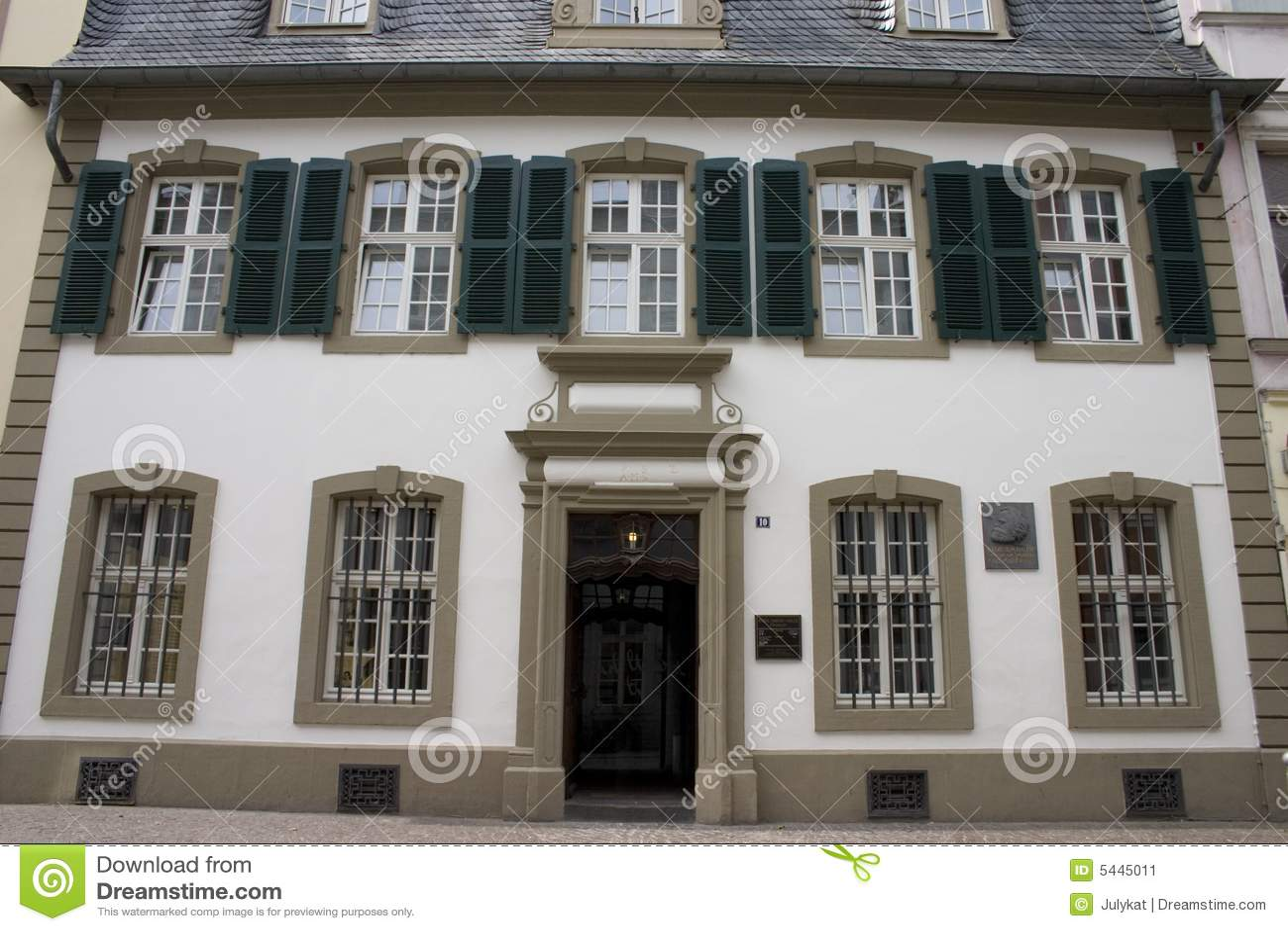 Het huis van karl marx in trier stock afbeelding afbeelding 5445011 - Versier het huis ...