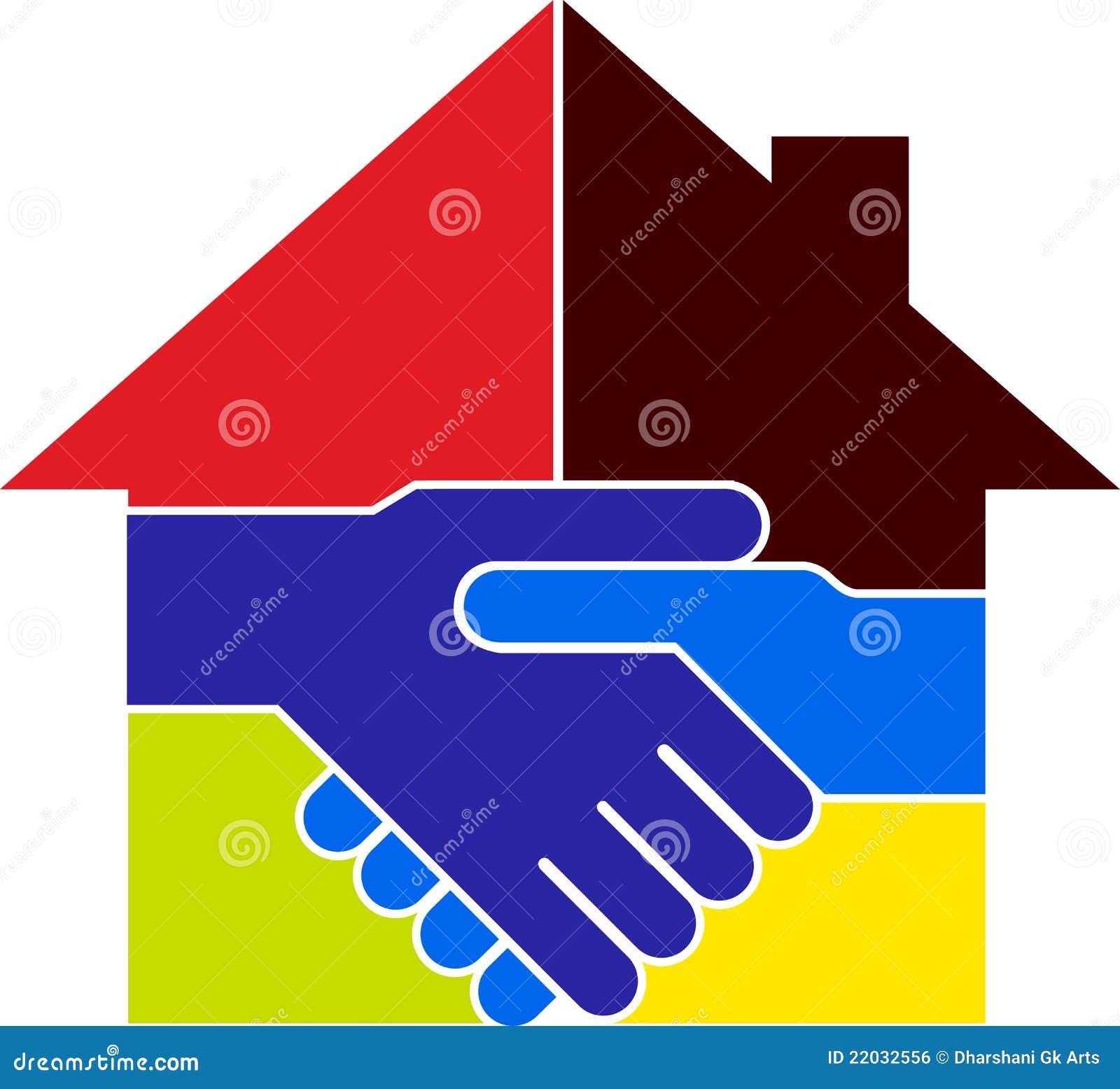 Het huisembleem van de overeenkomst