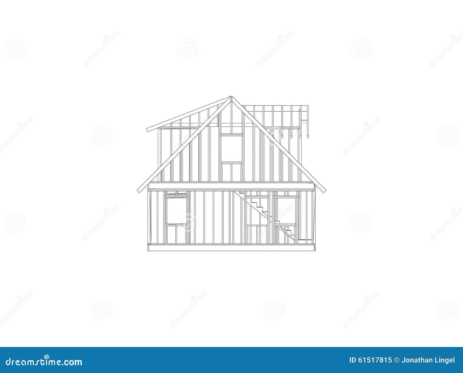 Het huiskader van de kaapstijl stock illustratie afbeelding 61517815 - Zolder ontwikkeling ...
