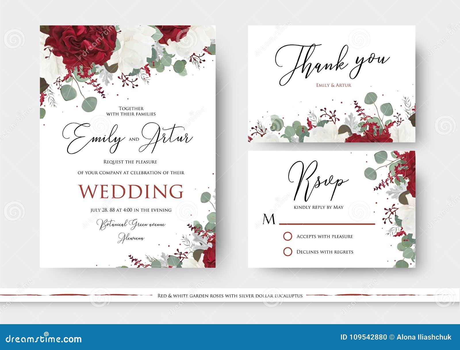 Het huwelijk bloemen nodigt, sparen de datum uit, dankt u, rsvp kaart desig