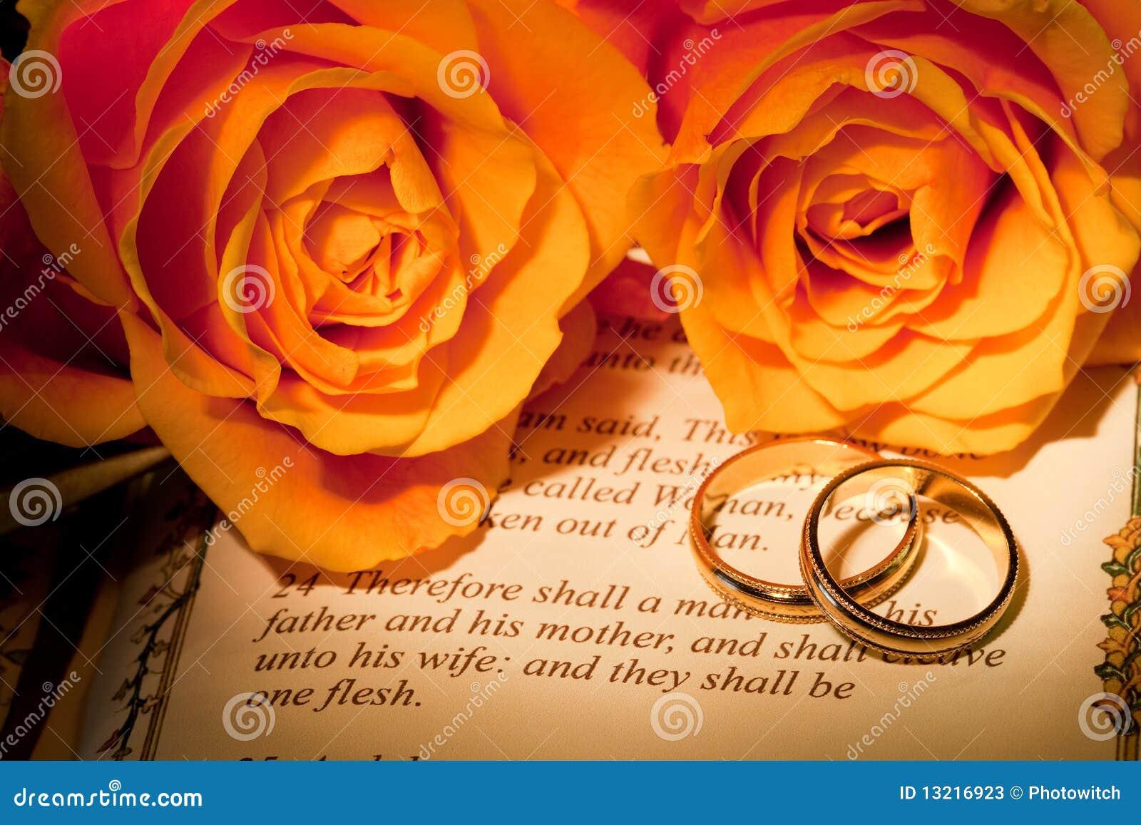 Het huwelijk van de bijbel stock illustratie