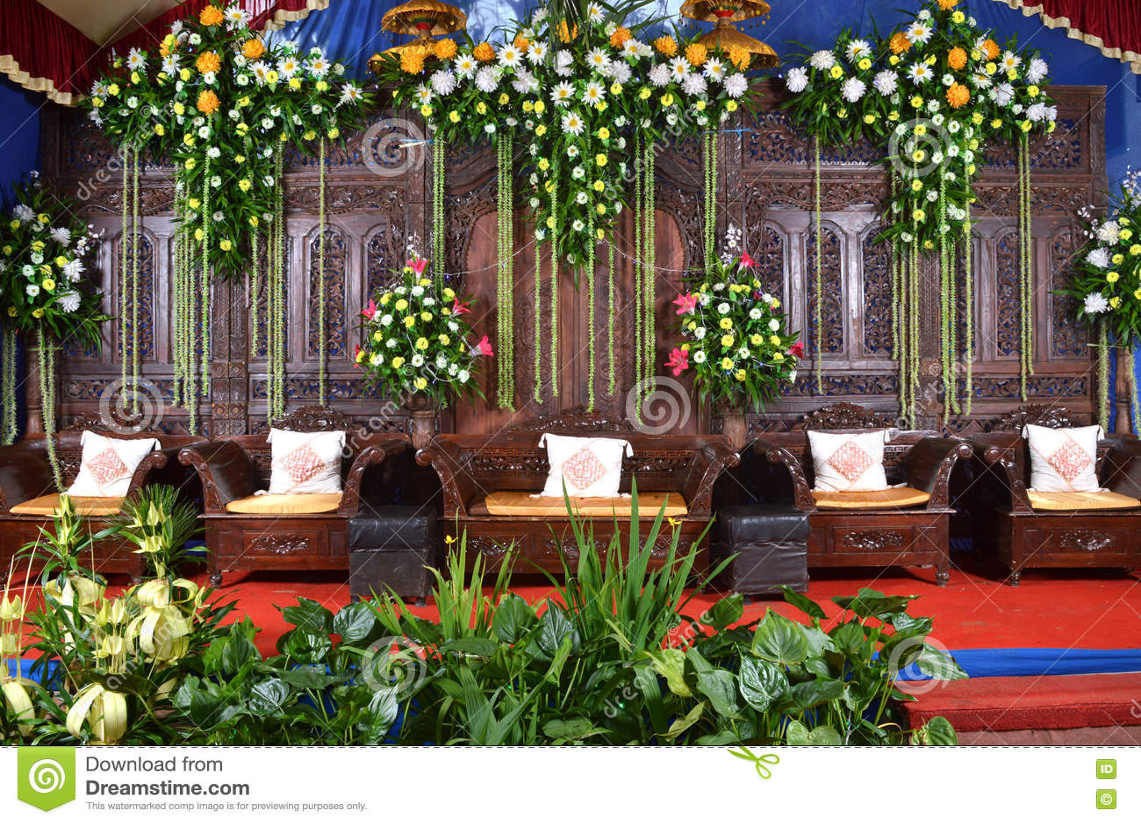 stock foto het huwelijksdecoratie van java dekorasi pernikahan jawa image