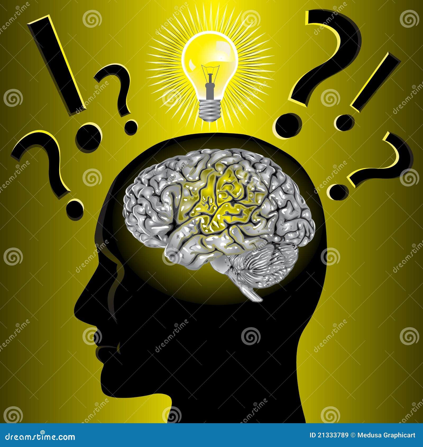 Het idee van hersenen en probleem het oplossen royalty vrije stock afbeeldingen afbeelding - Idee van zolderruimte ...