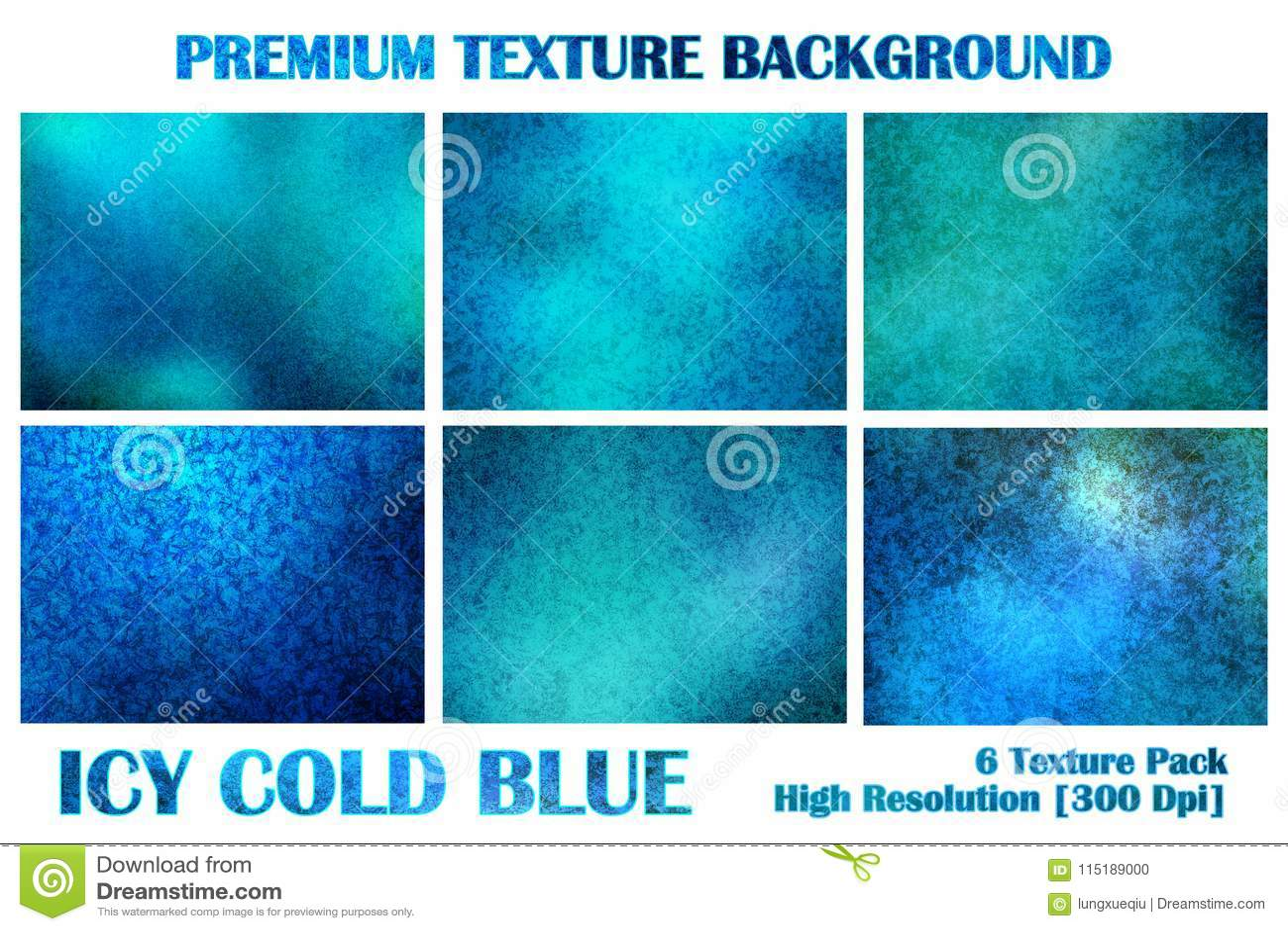 Het ijzige Ijskoude Blauwe Pak van de Premietextuur onder Water Grunge vervormt Rusty Abstract Pattern Background Wallpaper