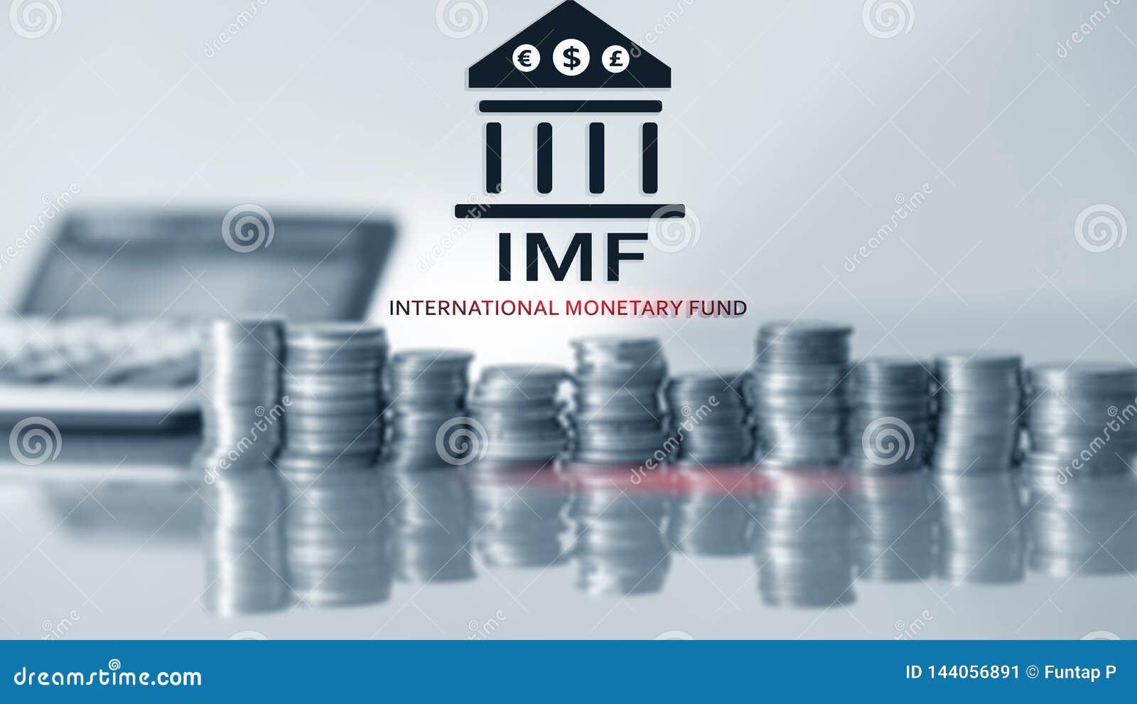 Het IMF Internationaal Monetair Fonds Financiën en bankwezenconcept 2