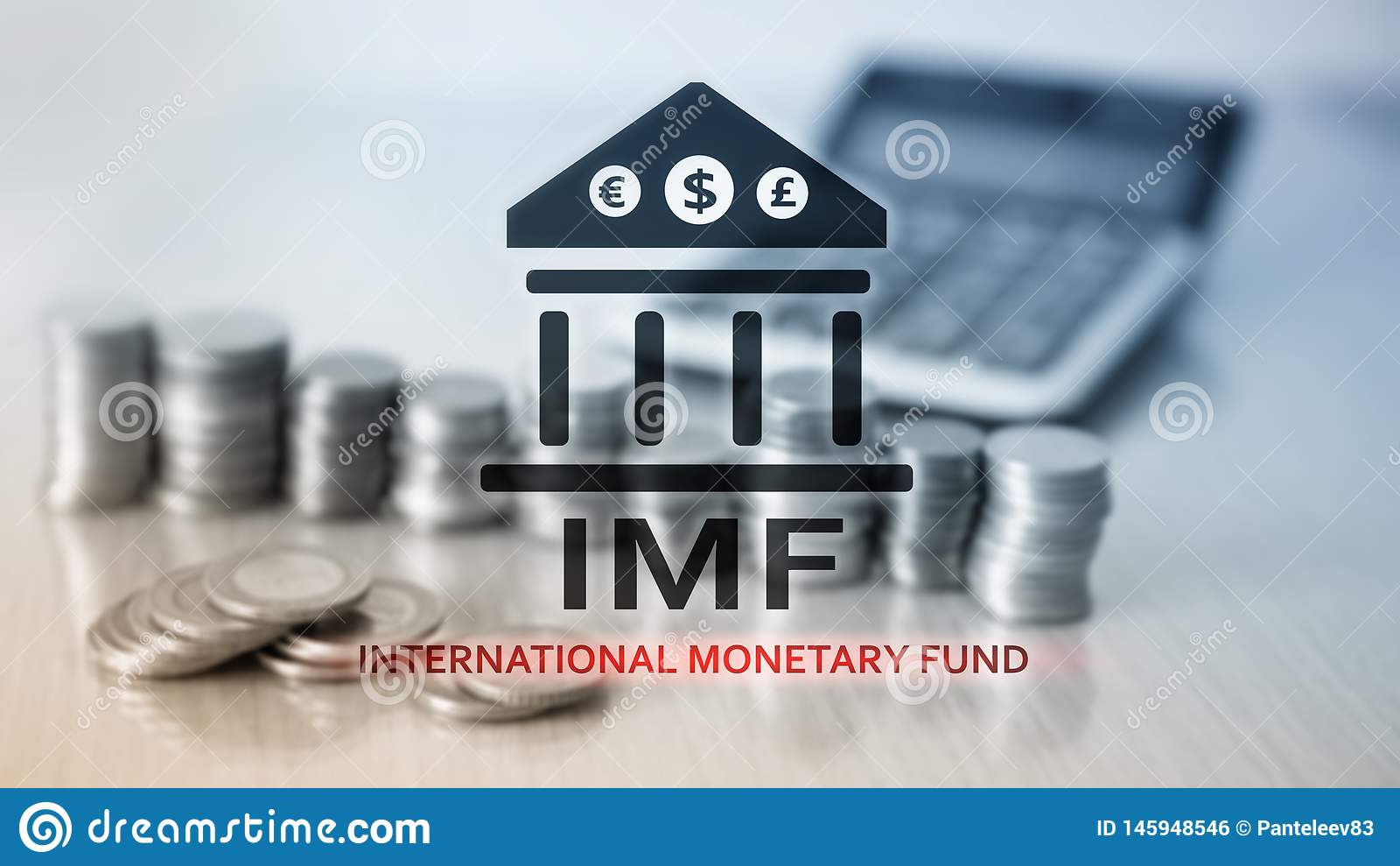 Het IMF Internationaal Monetair Fonds Financi?n en bankwezenconcept