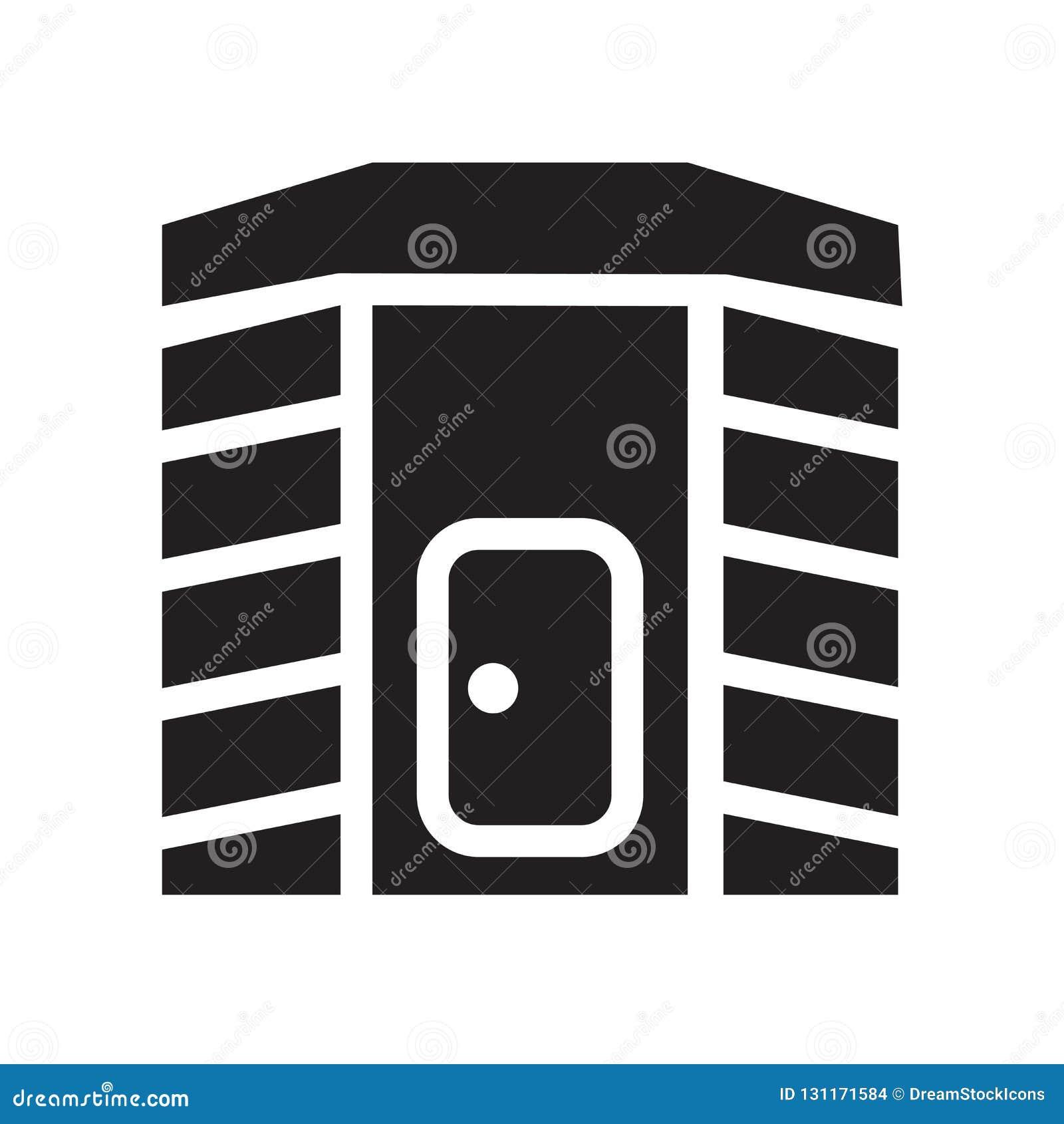Het infrarode pictogram van de hittecabine Het in Infrarode embleem van de hittecabine concep