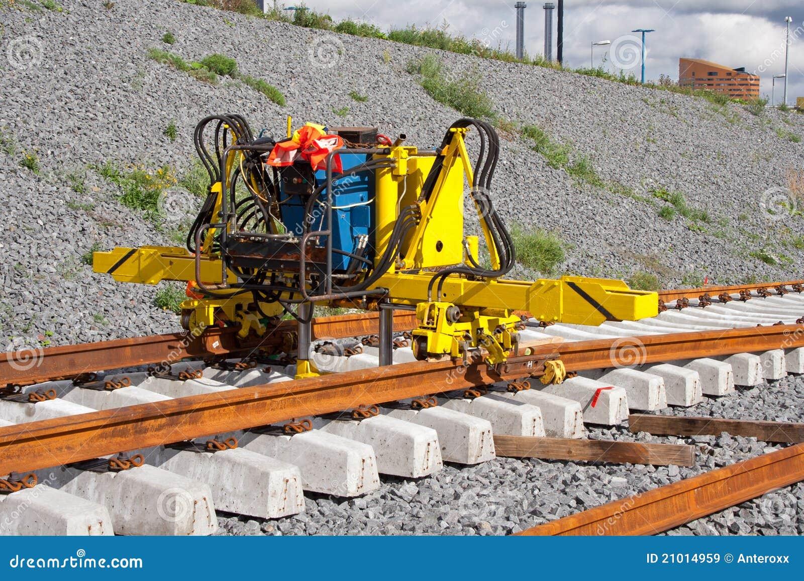 Het installeren van spoorwegsporen