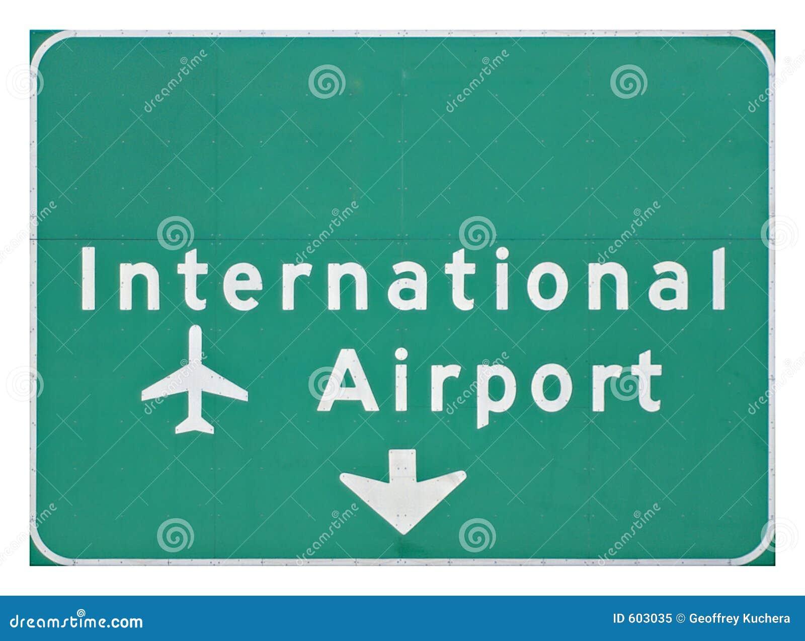 Het internationale Teken van de Luchthaven