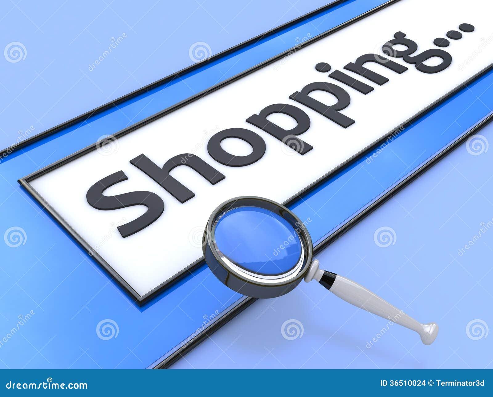 Het Internet-het winkelen adres zoek