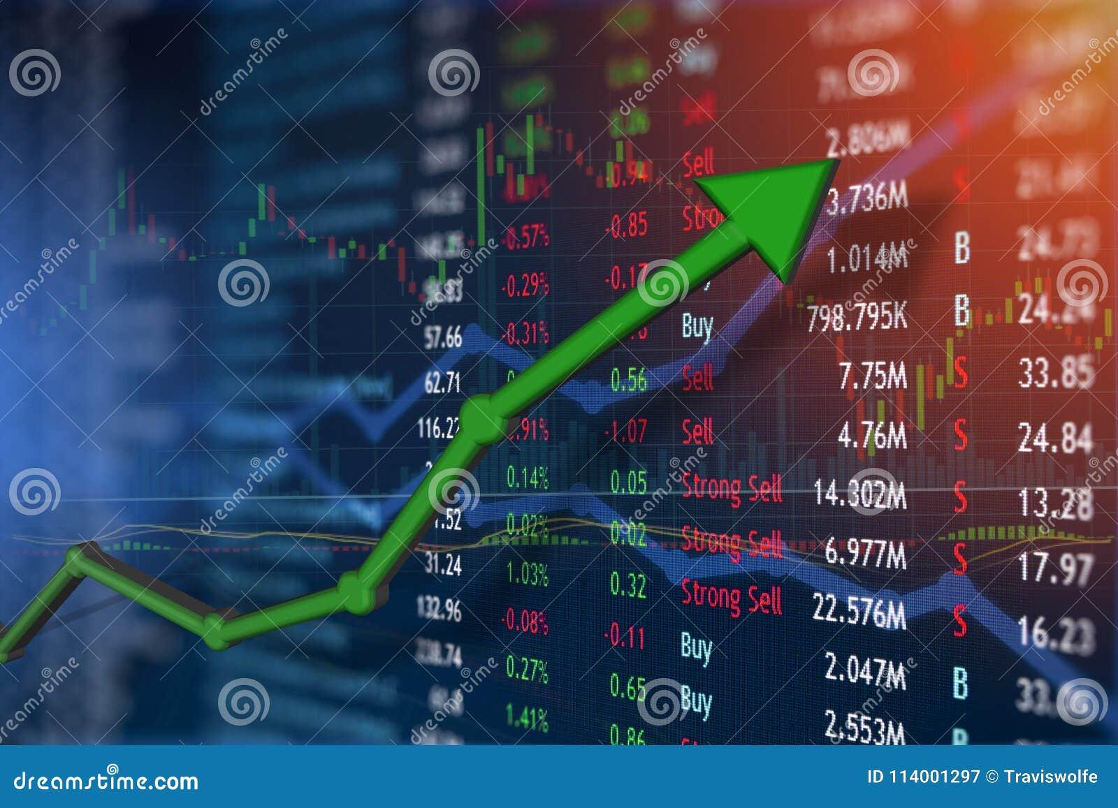 Het investeren en effectenbeursconceptenaanwinst