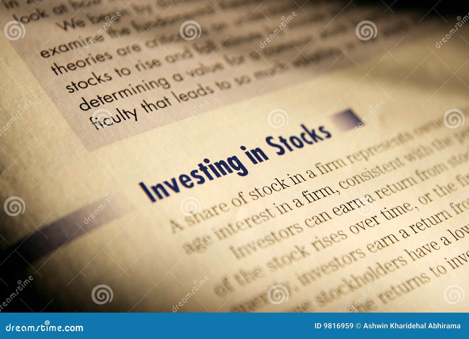 Het investeren in voorraden.