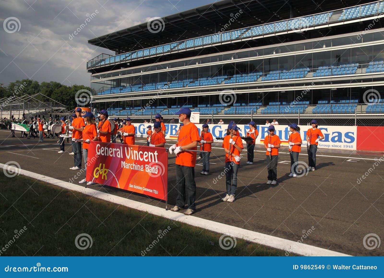 Het Italiaanse Marcheren toont Band