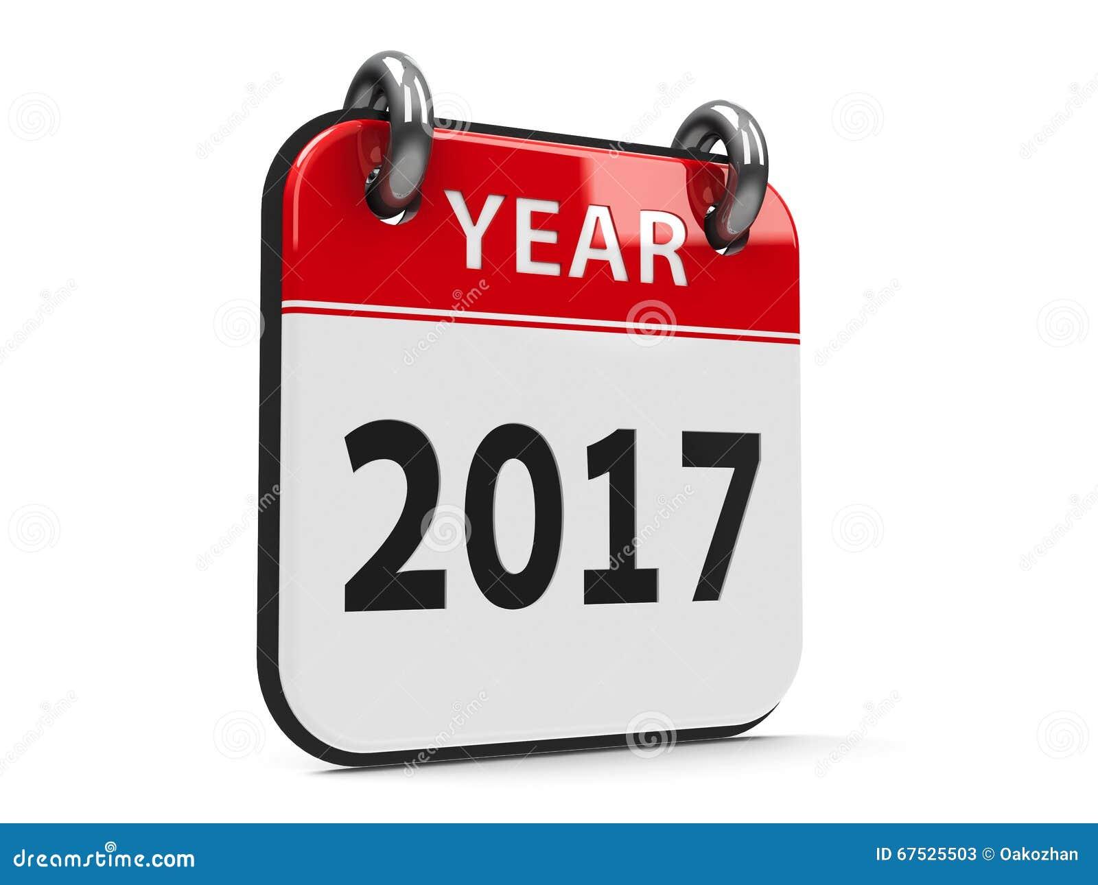 Het jaar van de pictogramkalender 2017 stock illustratie afbeelding 67525503 - Secretaresse witte ...