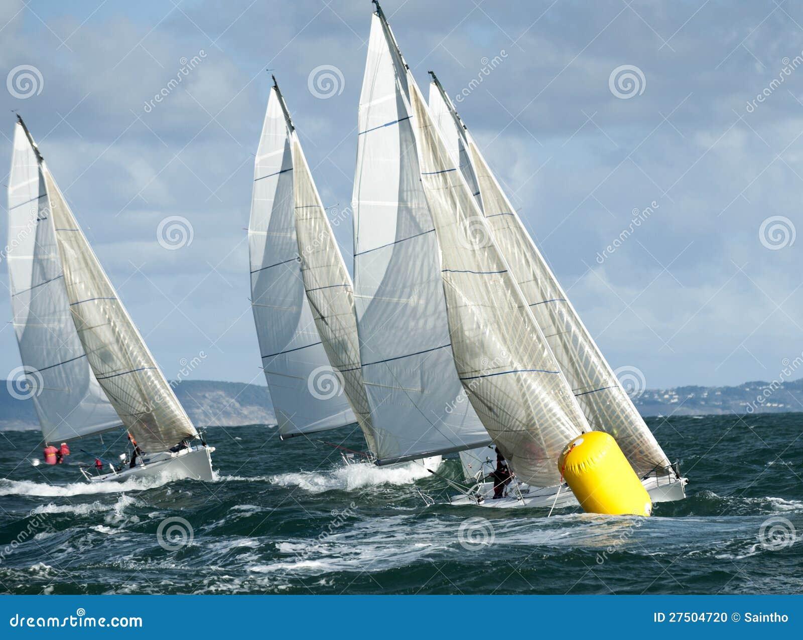 Het jacht van de vloot bij regatta