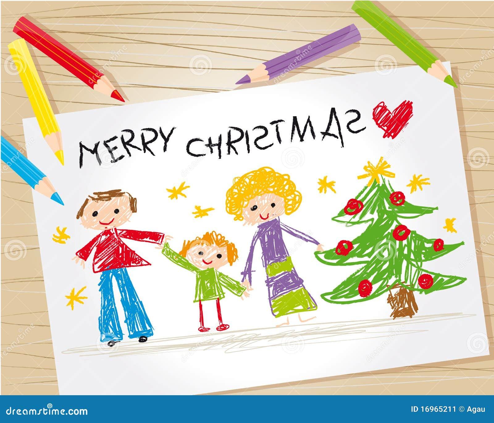 Het jonge geitjetekening van Kerstmis