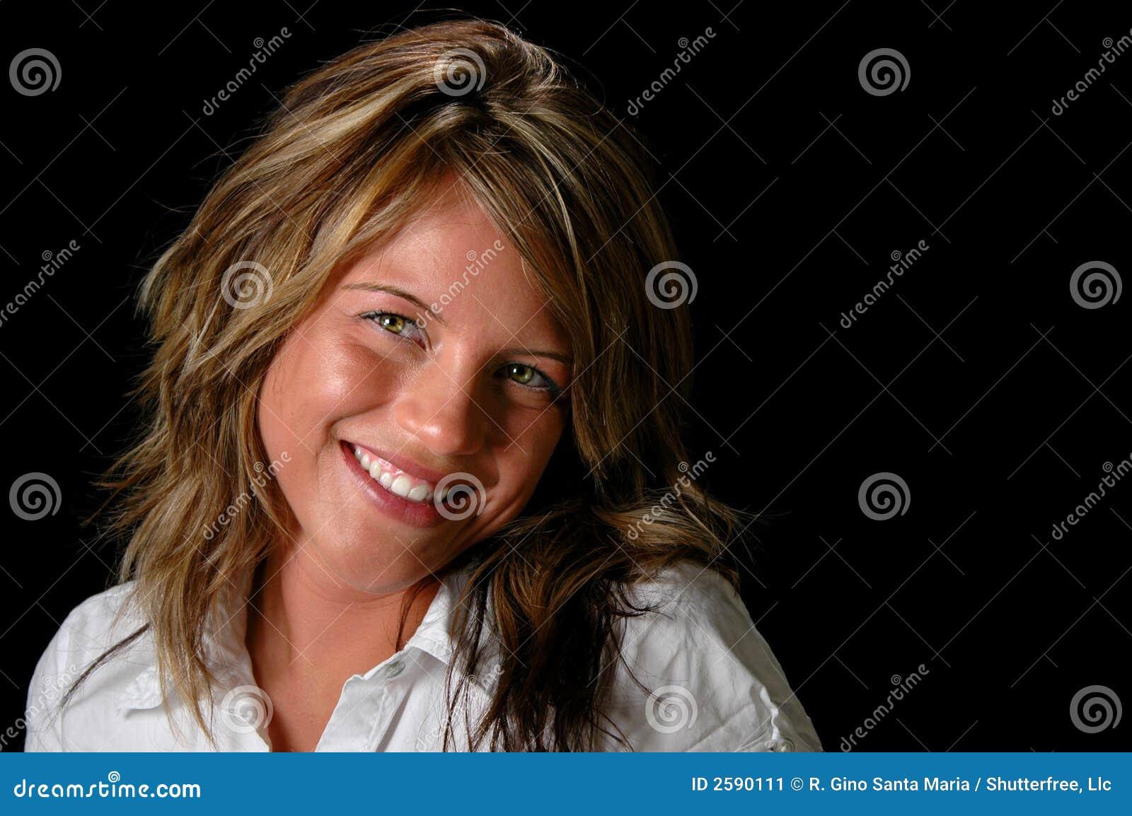 Het jonge Glimlachen van de Vrouw