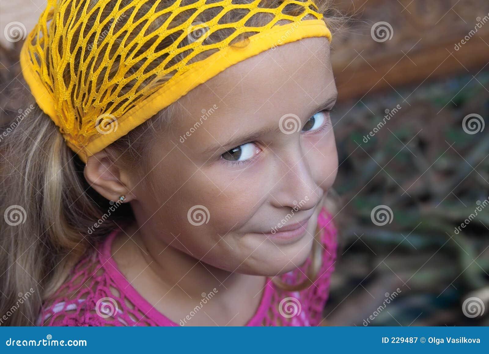 Het jonge meisje van Smilling
