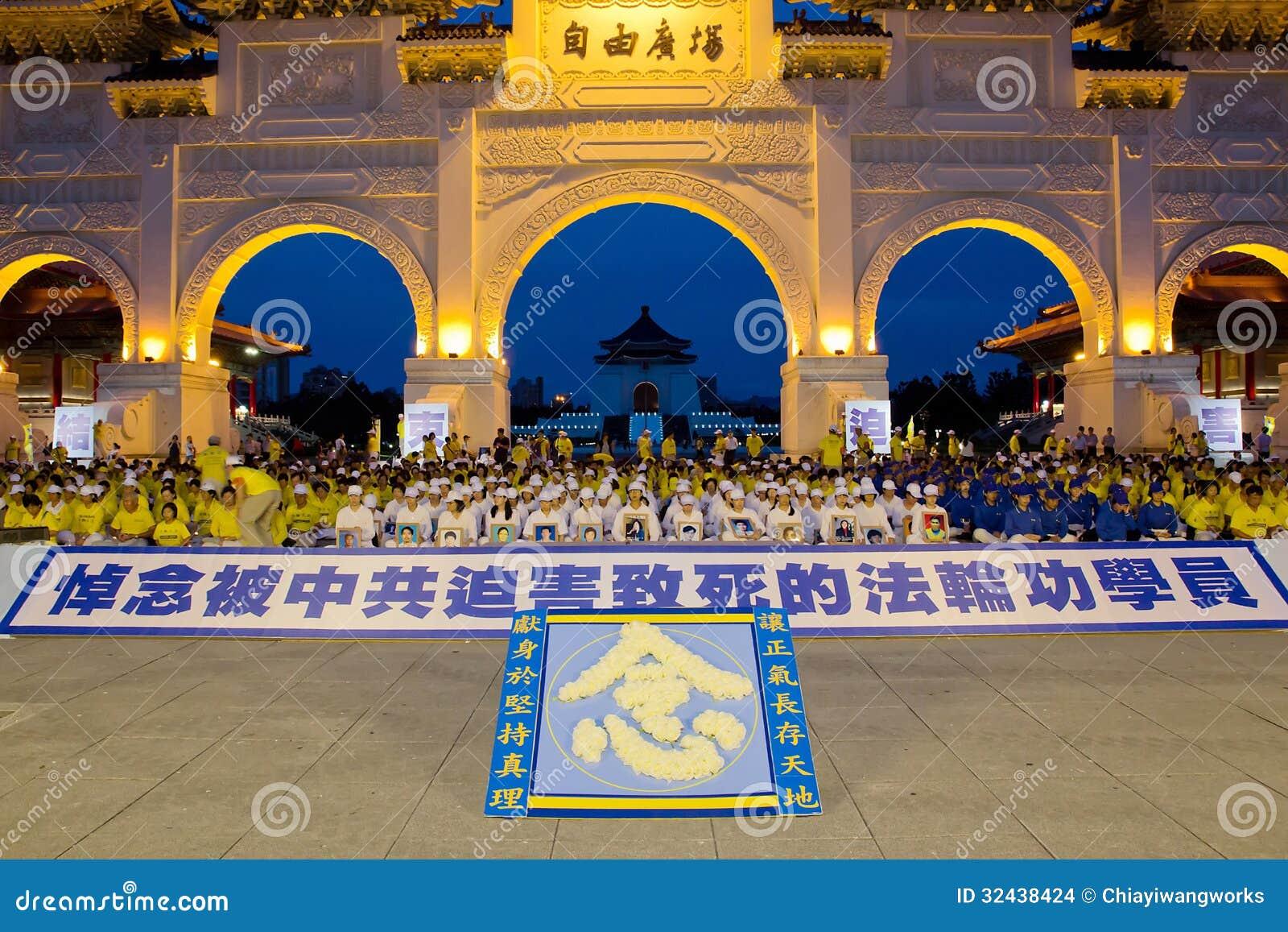 Het Kaarslichtwake Taiwan van de Falungong