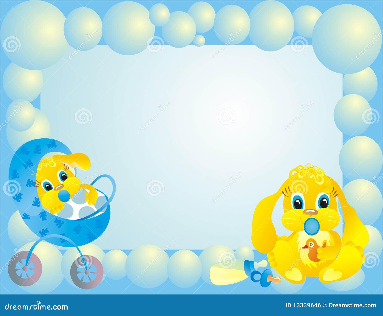 Het kader van de baby met konijntje vectorillustratie vector illustratie afbeelding 13339646 - Bebe ontwerp ...
