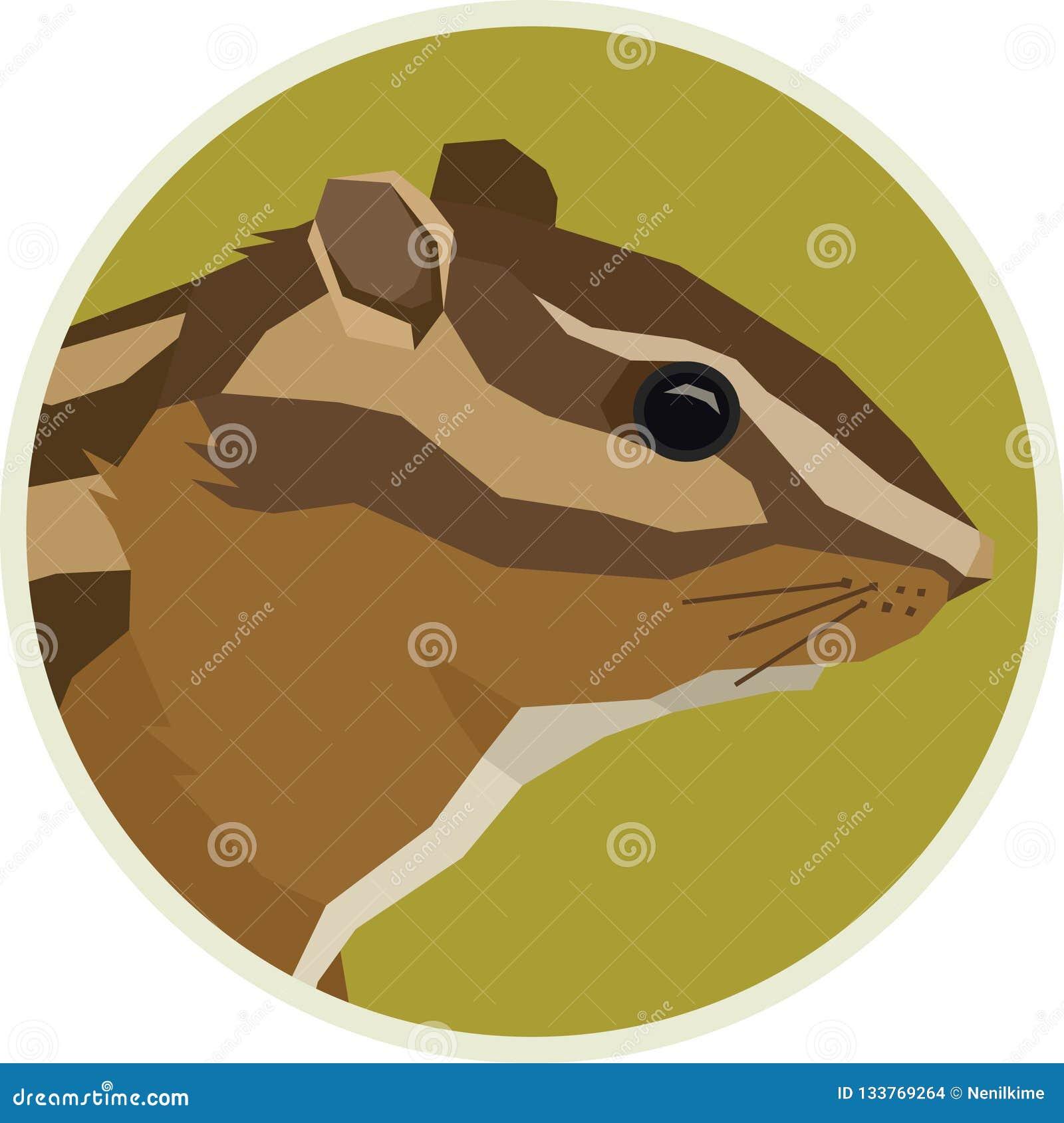 Het kader van de dierenrounde van aardeekhoornforest wildlife vector