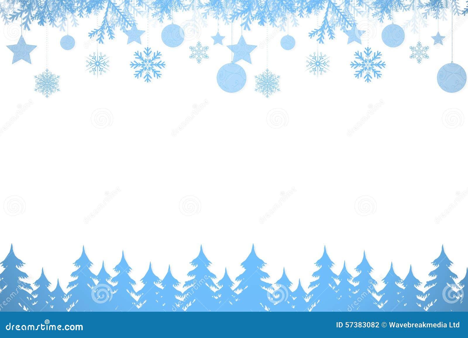 Het kader van de sneeuwvlok in blauw