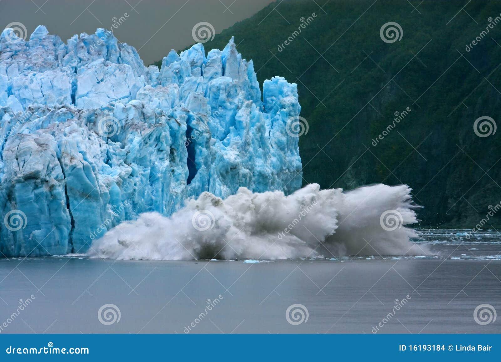 Het Kalven van de Gletsjer van Hubbard