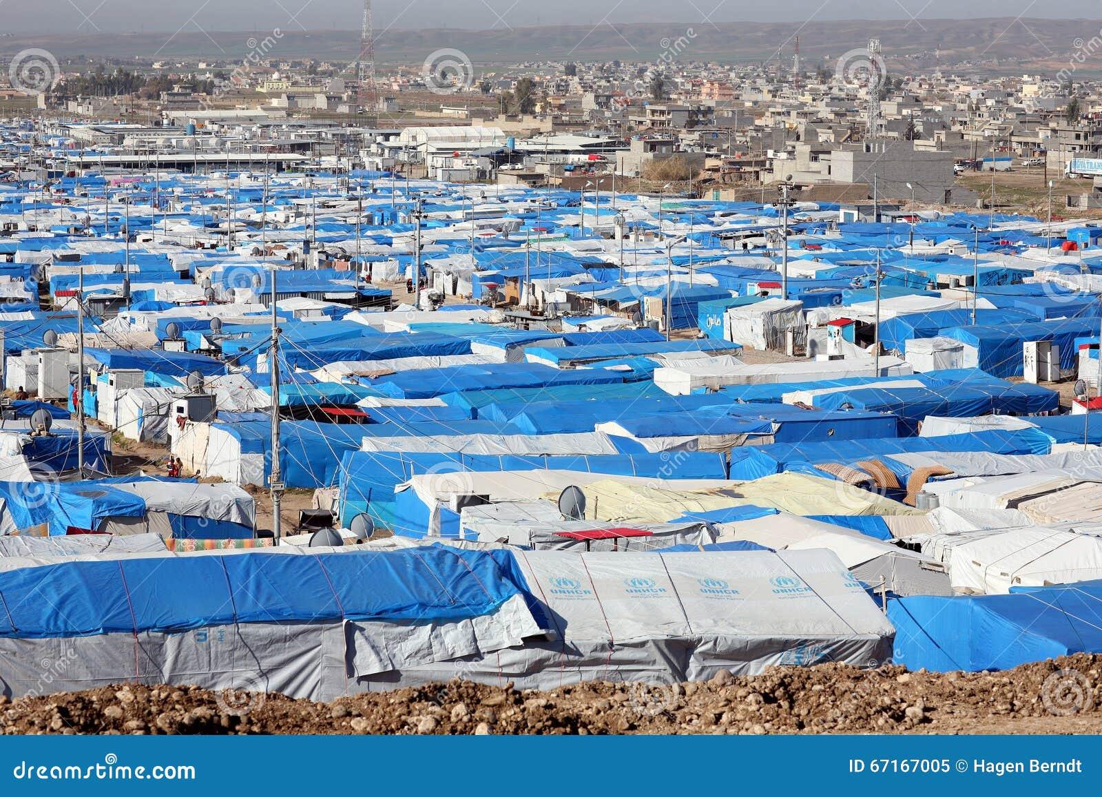 Het kamp van de Kawergoskvluchteling
