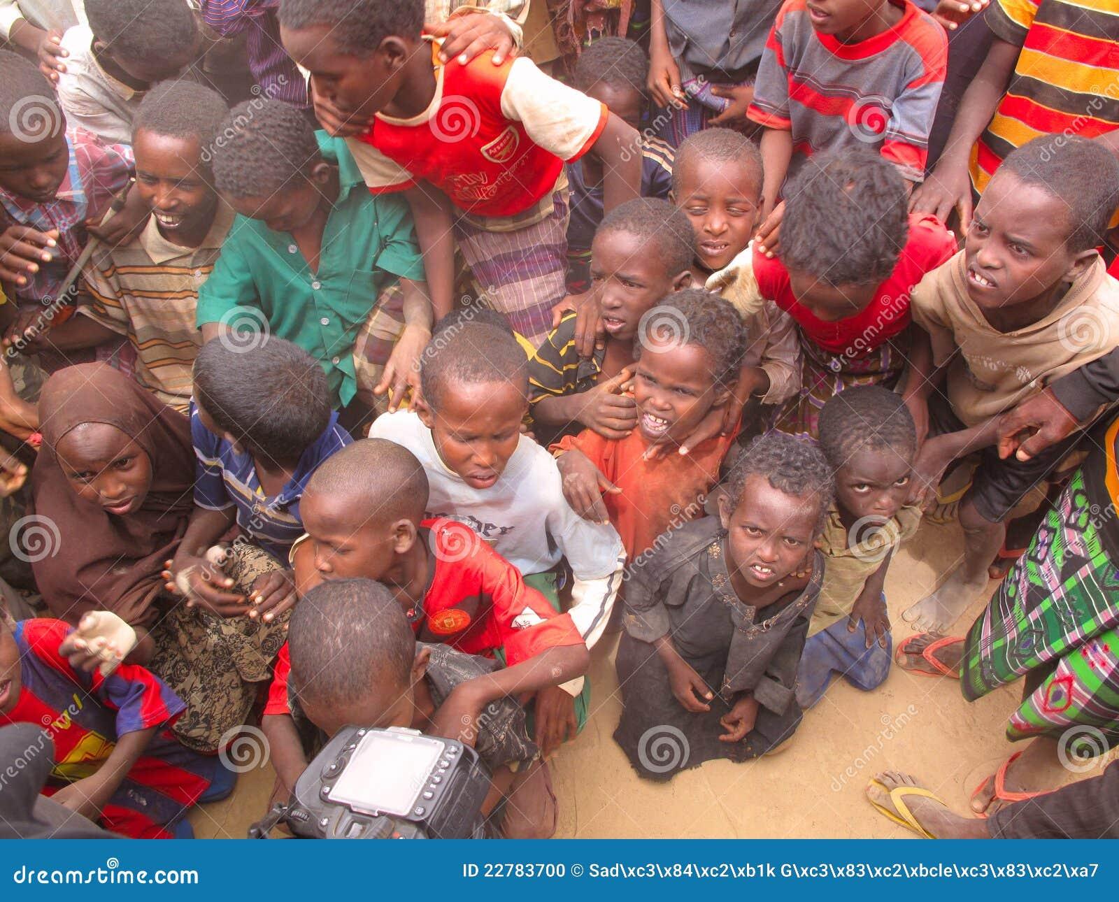 Het Kamp van de Vluchteling van de honger