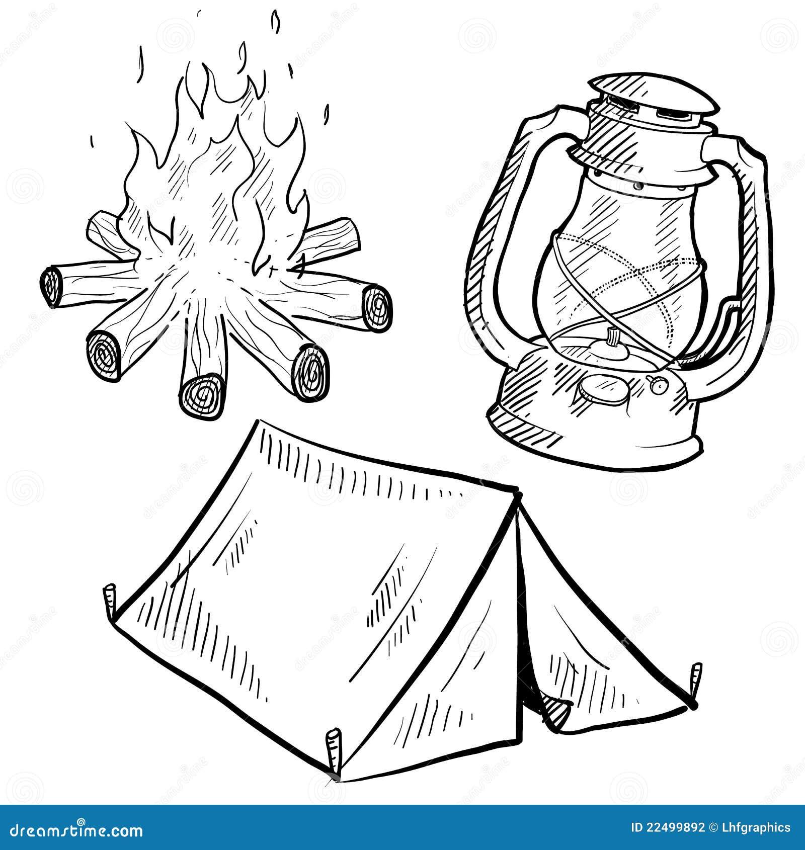 Kids Hand Campfire Art