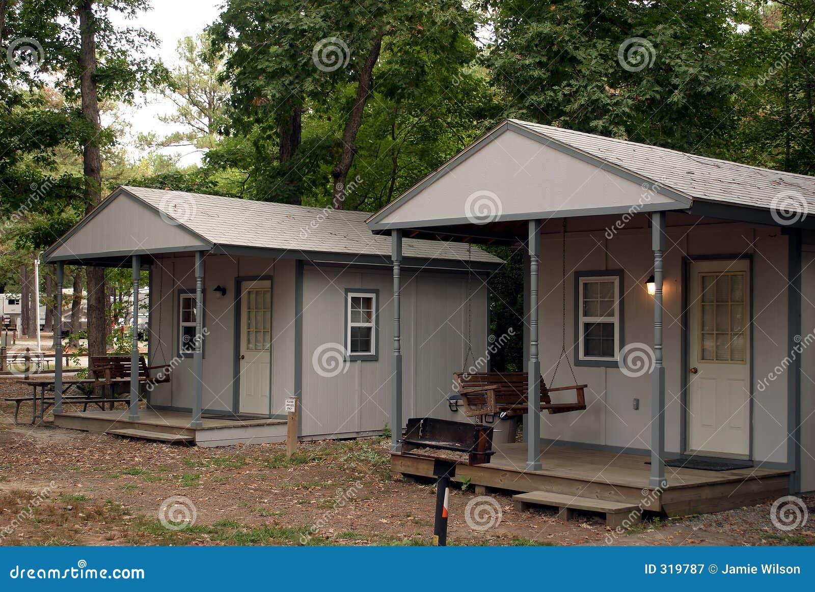 Het kamperen Cabines