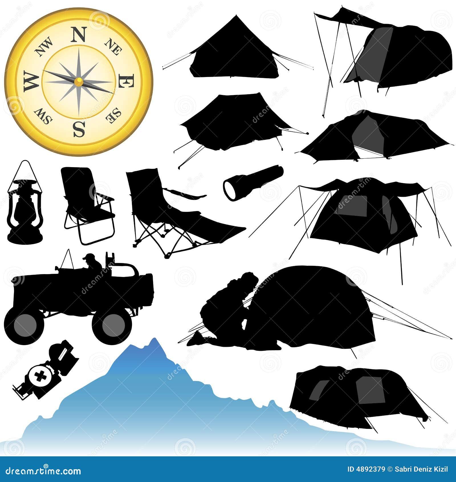 Het kamperen en apparatuur