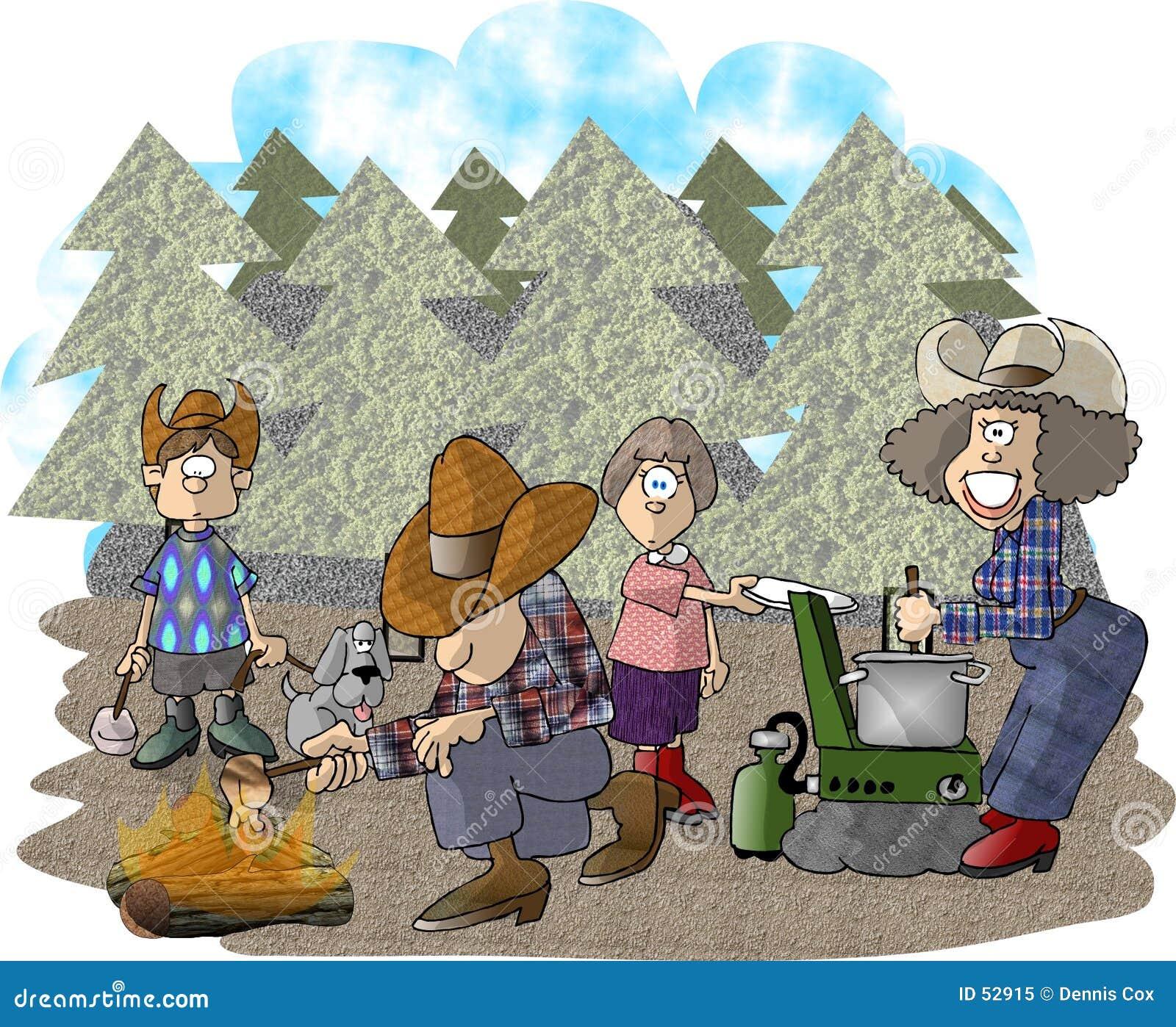 Het kamperen reis