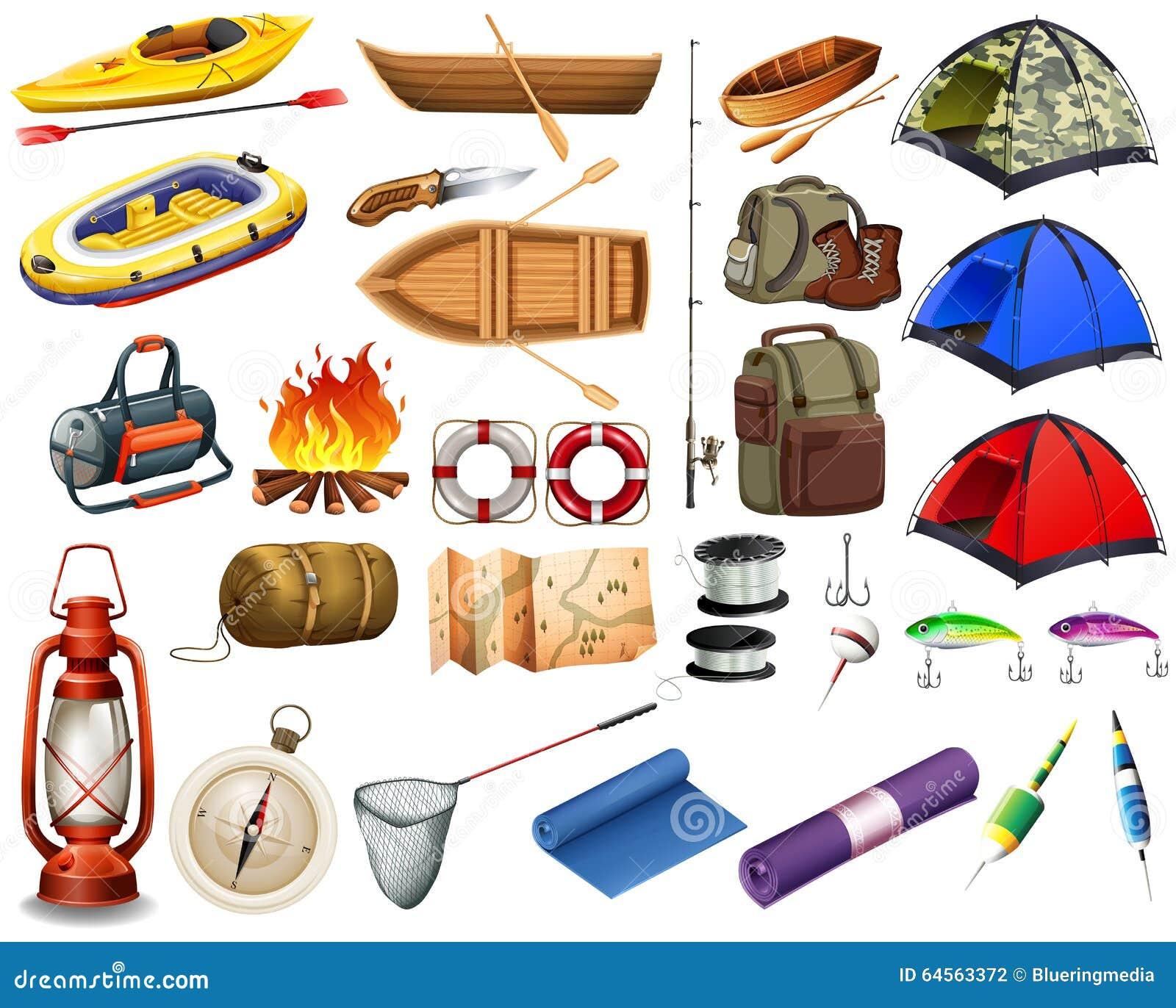 Het kamperen toestellen en boten