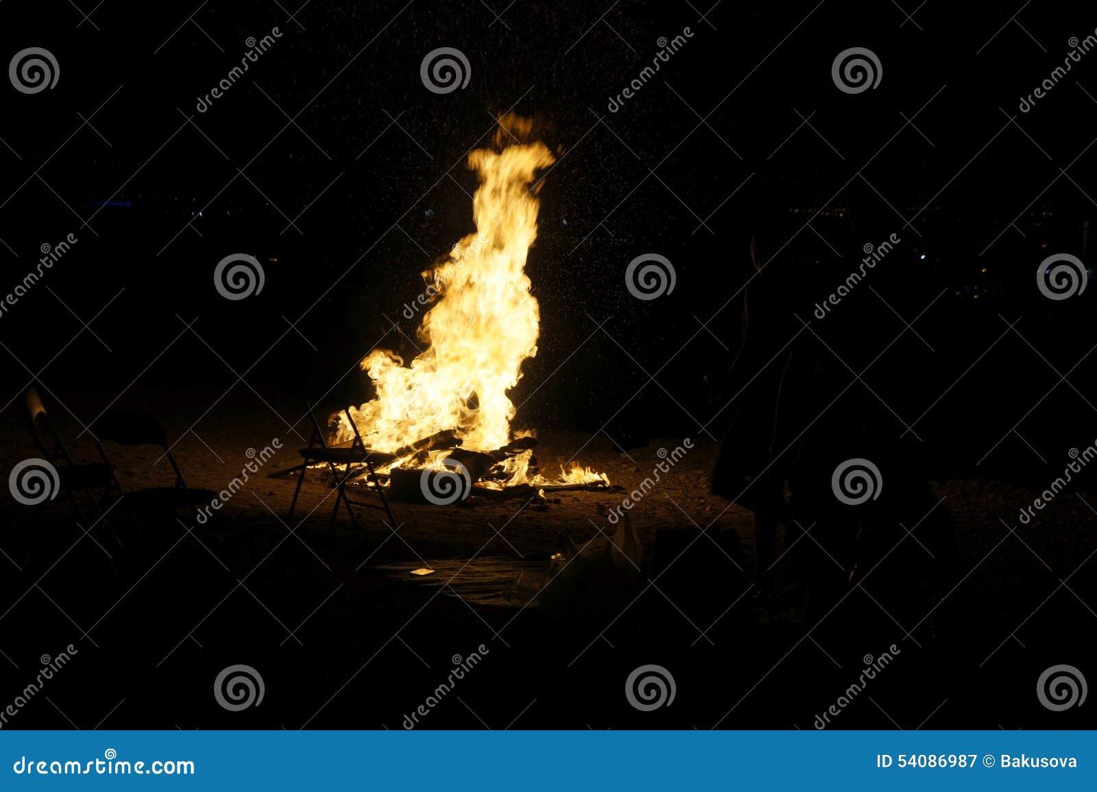 Het kamperen vuur