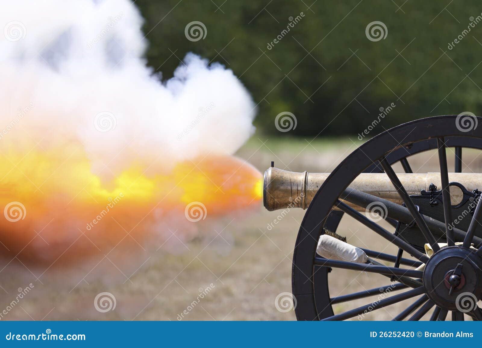 Het Kanon Fireing van de Burgeroorlog