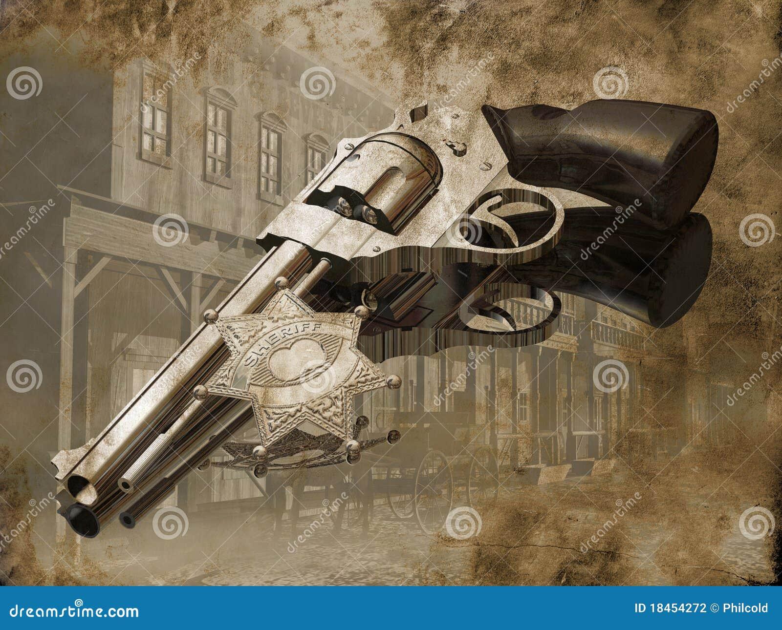 Het kanon van de sheriff