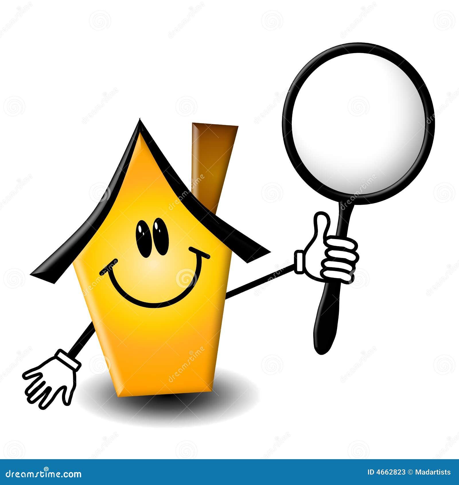 Het Karakter van het Beeldverhaal van de Inspectie van het huis