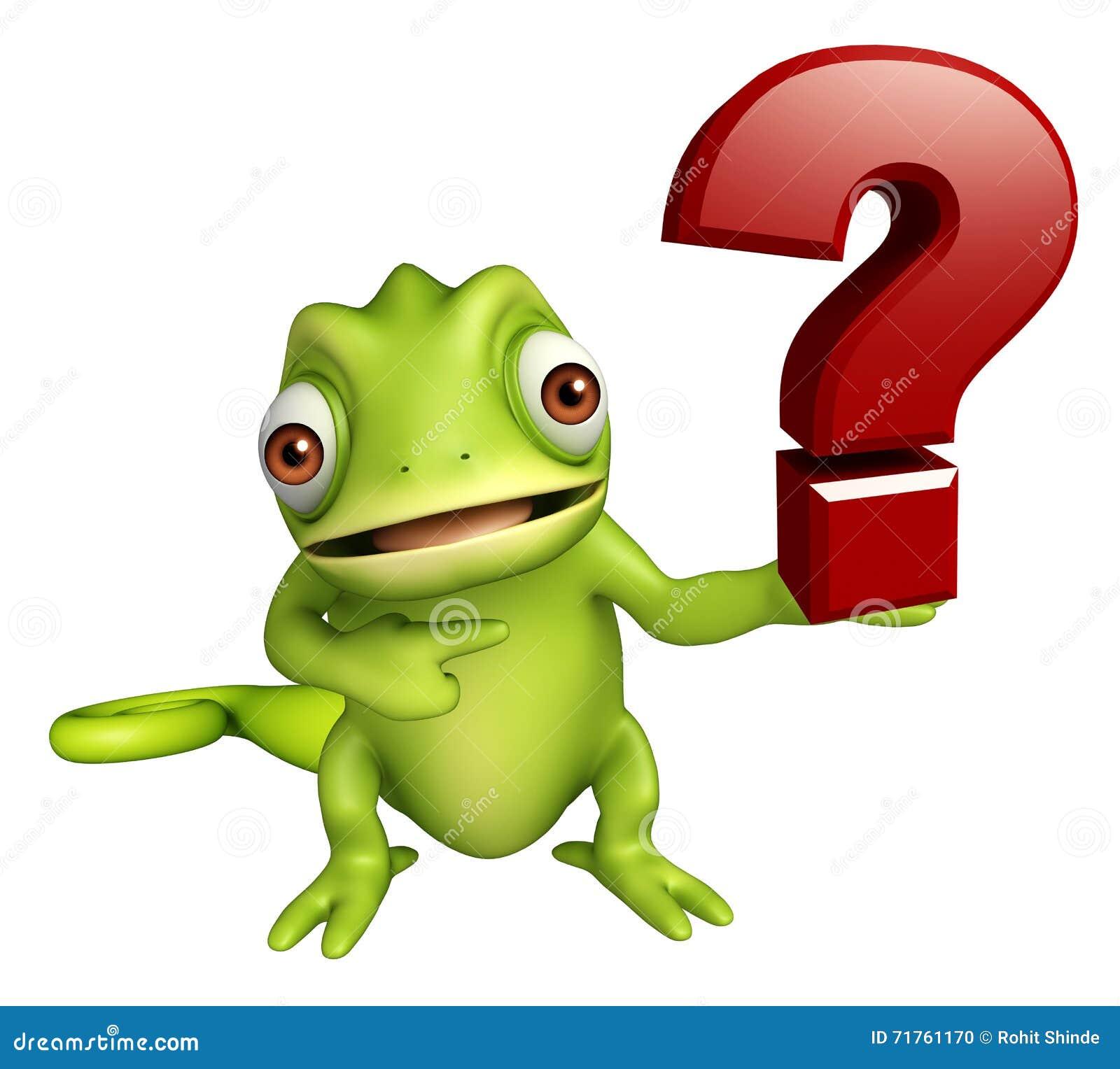 Het Karakter Van Het Kameleonbeeldverhaal Met