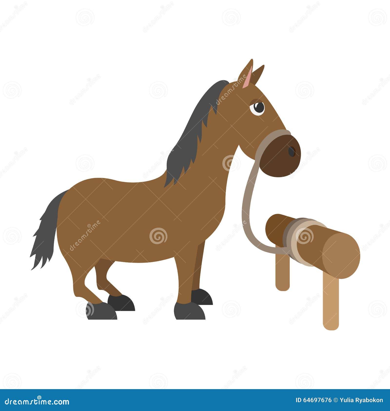 Het karakter van het paardbeeldverhaal