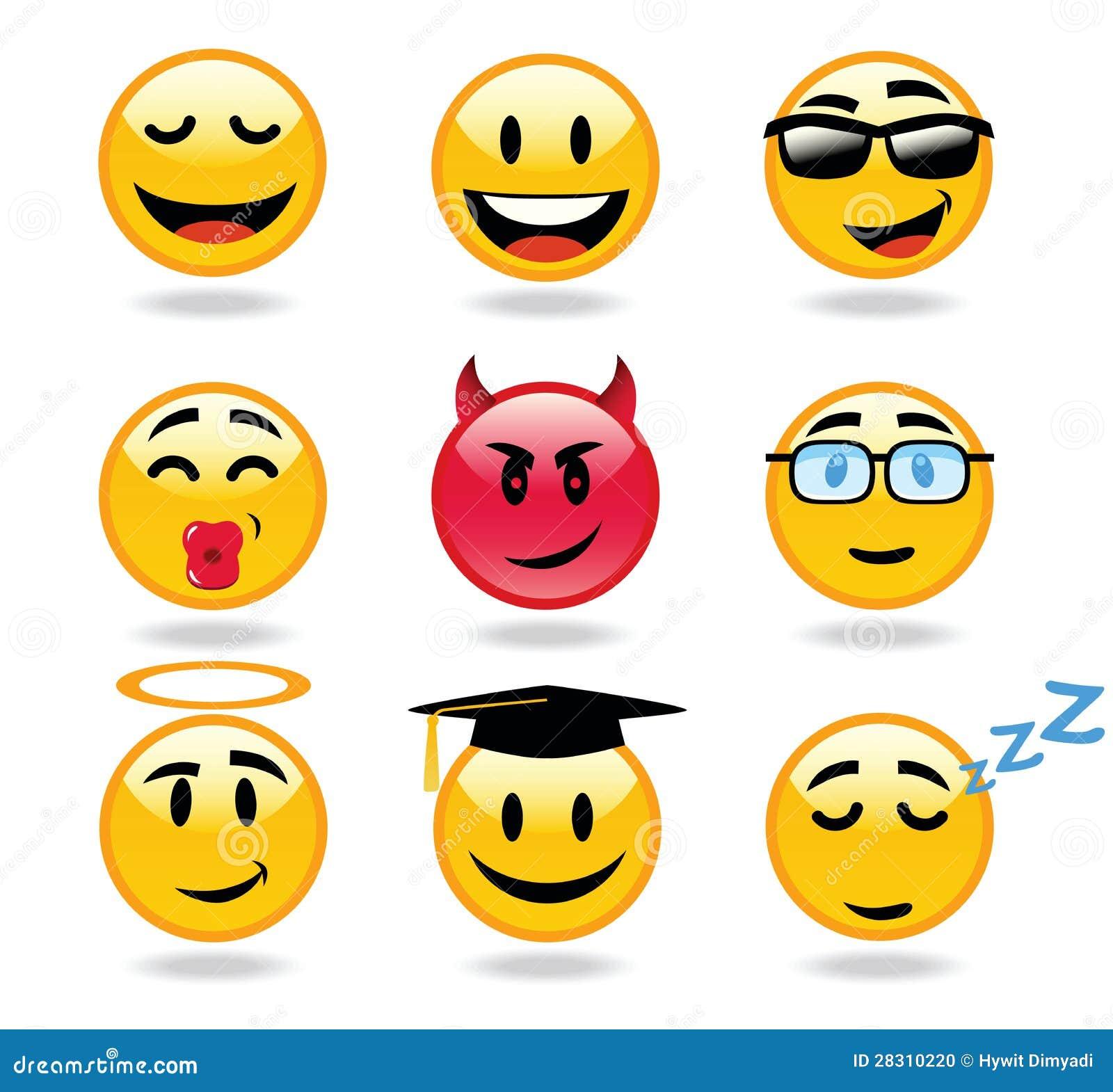 Het karakterpictogrammen van Emoticons