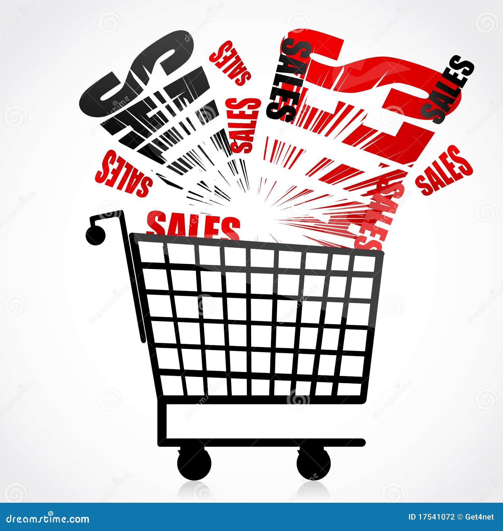 Het karretje van de verkoop stock fotografie beeld 17541072 - Zinkt de verkoop ...