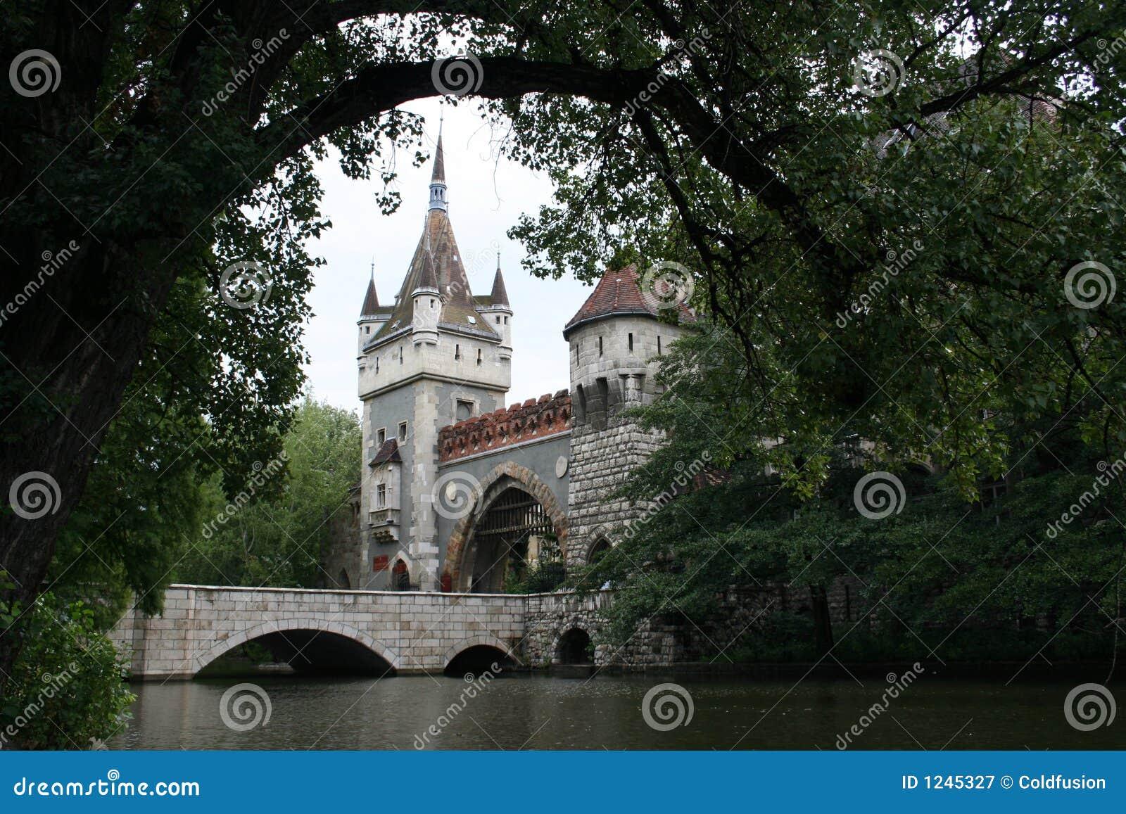 Het Kasteel, de Poorten en de Brug van Vajdahunjad