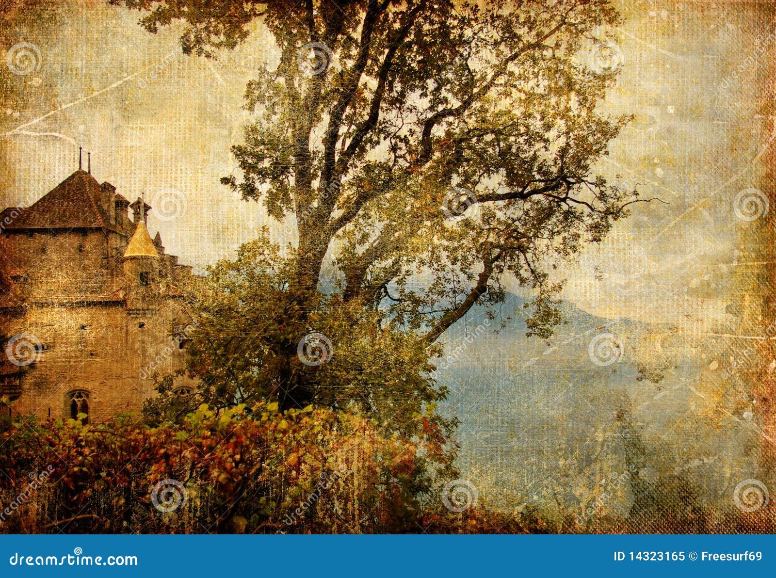 Het kasteel van de herfst