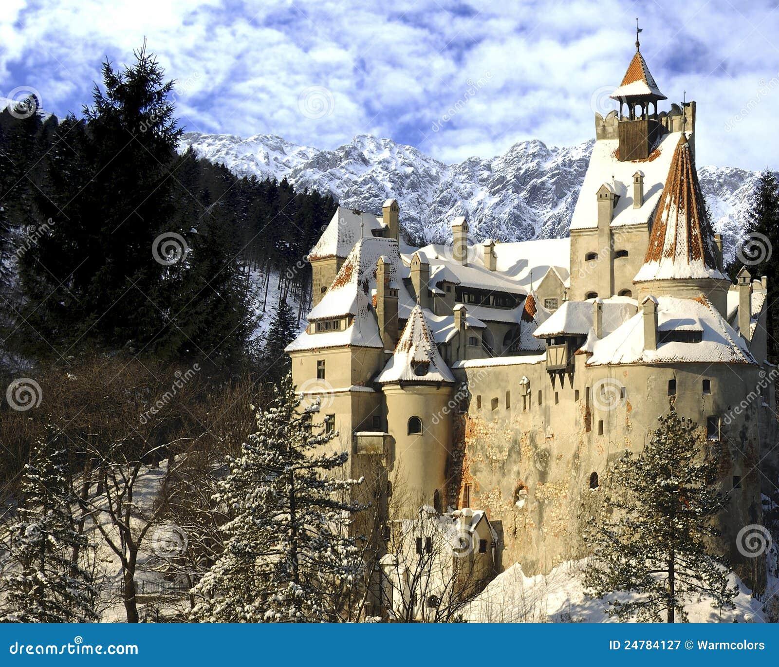 Het Kasteel Van De Zemelen Van Dracula, Transsylvani u00eb, Roemeni u00eb Royalty vrije Stock Fotografie