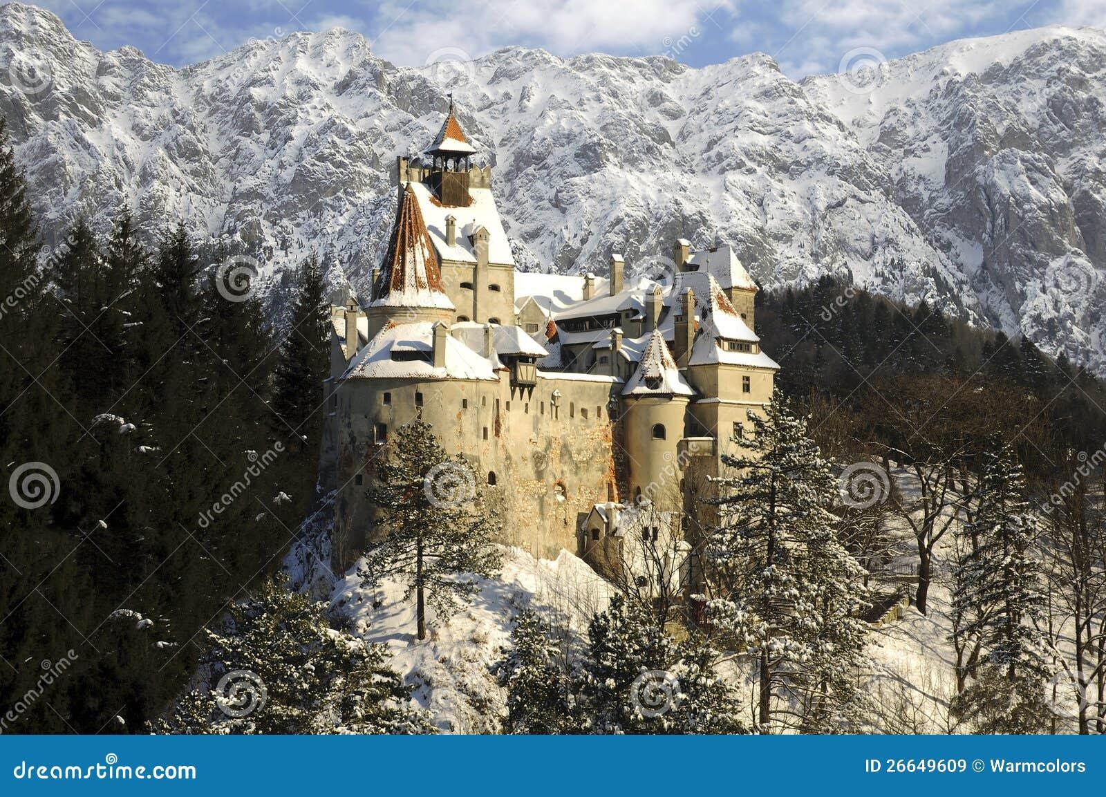 Het Kasteel Van De Zemelen Van Dracula, Transsylvani u00eb, Roemeni u00eb Royalty vrije Stock Afbeeldingen