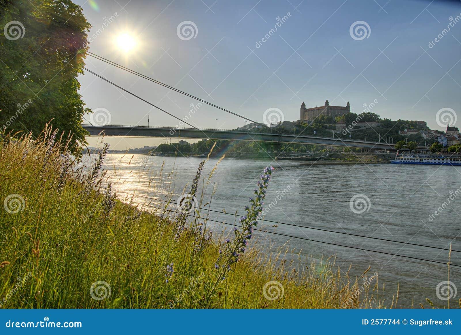 Het kasteel van Donau en van Bratislava