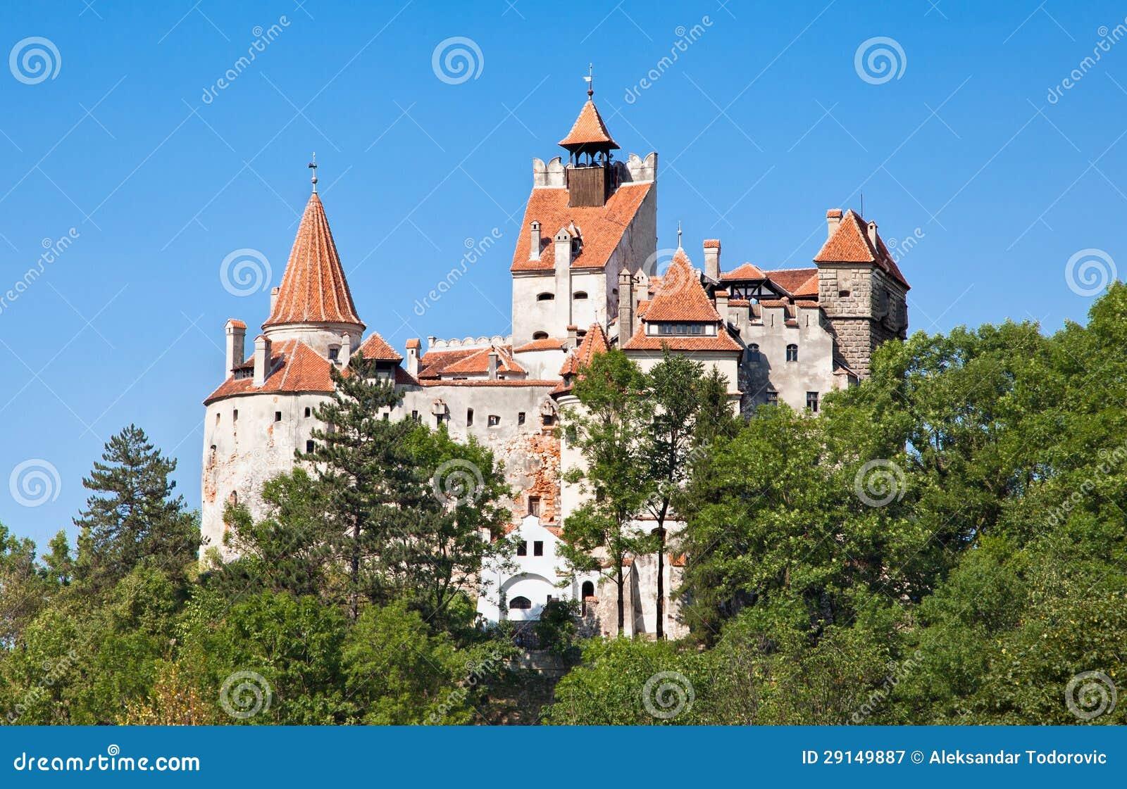Het Kasteel Van Dracula   Het Kasteel Van Zemelen In Transsylvani u00eb, Roemeni u00eb Royalty vrije Stock