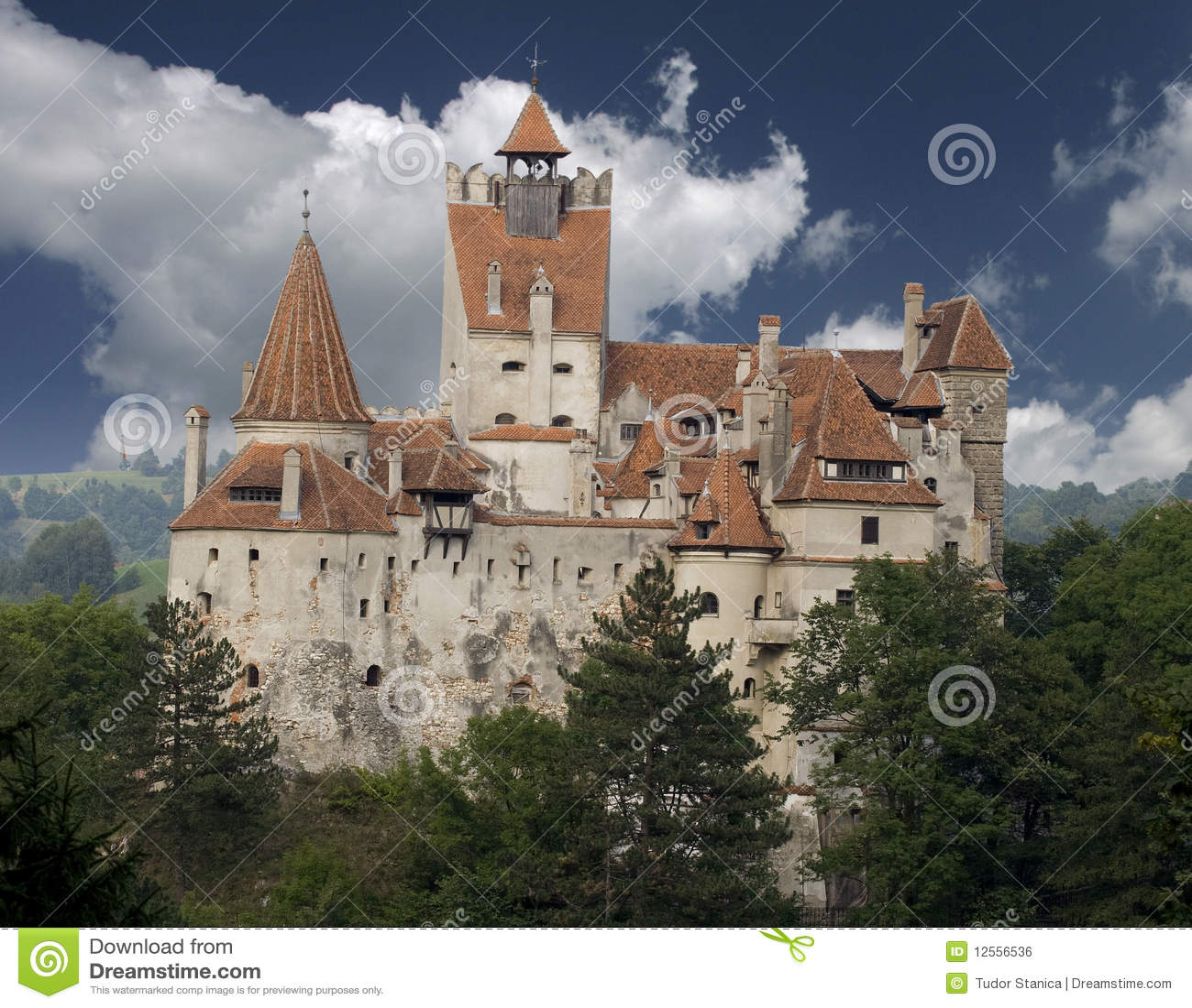 Het Kasteel Van Dracula Van Transsylvani u00eb Royalty vrije Stock Afbeelding   Afbeelding  12556536